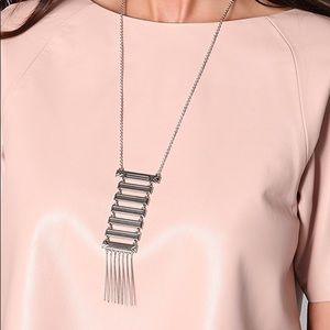 House of Harlow Totem Pole Necklace in Silver